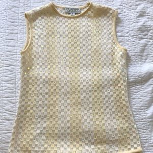 St. John By Marie Gray Knitted sleeveless top.